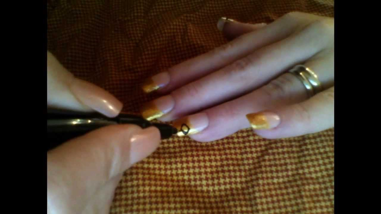 Gold graduation french tips graduation nail design for any school gold graduation french tips graduation nail design for any school or graduation prinsesfo Images