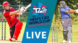 LIVE CRICKET - ICC Men's T20 World Cup Europe Final 2019 - Jersey vs Italy. Match starts 16.25 BST