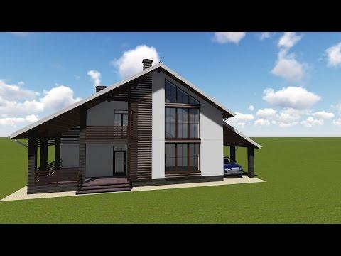 Проект дома в стиле шале в Туле и Москве