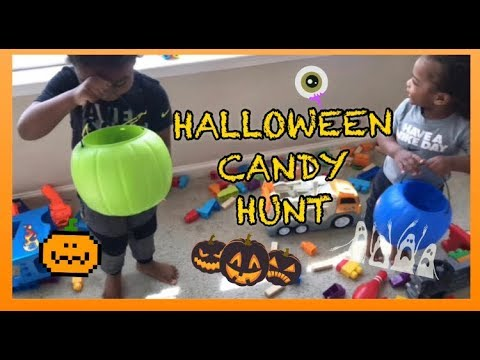 Kids Halloween Candy Hunt  KIDS RULE TV 🎃🍭