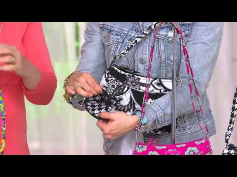 221808f16 Vera Bradley Signature Print Little Crossbody and Zip ID Holder with Amy  Stran - YouTube