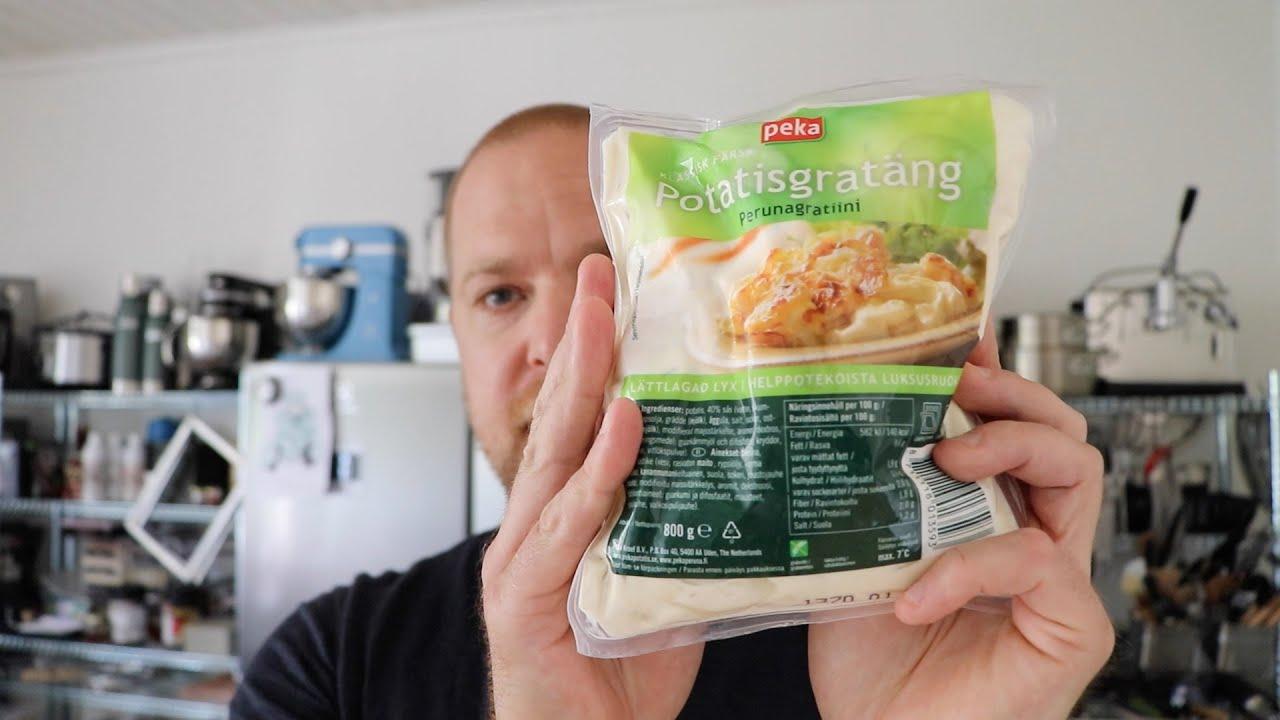 peka potatisgratäng tillagning