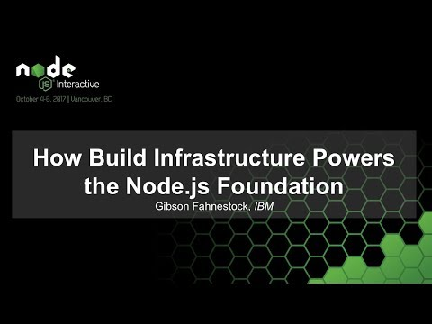 How Build Infrastructure Powers the Node.js Foundation