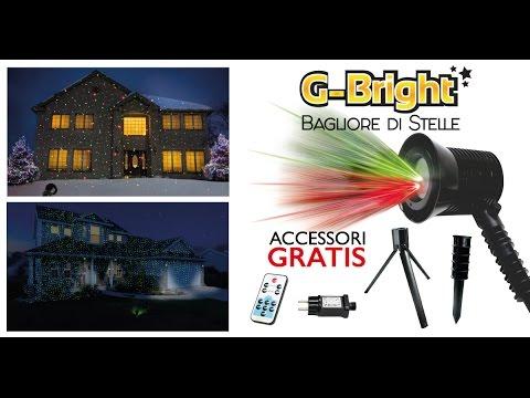 Proiettore Luci Natalizie Visto In Tv.G Bright Deluxe Bagliore Di Stelle Proiettore Di Stelle Con Telecomando Visto In Tv