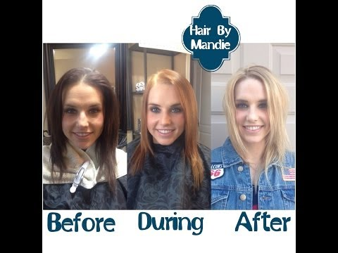 How To Lighten Your Hair From Brunette To Blonde   Bleach Wash Tutorial  Part 1