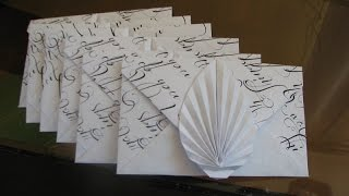 origami fan envelope