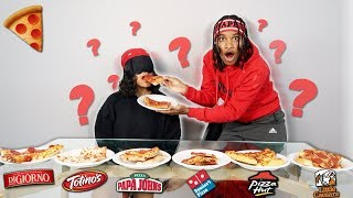 GUESS THAT PIZZA CHALLENGE! *Blindfold Taste Test*