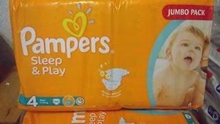 Pampers Sleep & Play .Обзор размеров, подгузник внутри