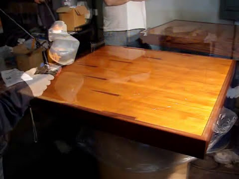 HOW TO APPLY EPOXY RESIN ON TABLE TOPS COUNTER TOPS BARTOPS  DEMONSTRATION -With MAX 1618 A/B