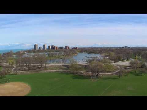 aerial view jackson park chicago south