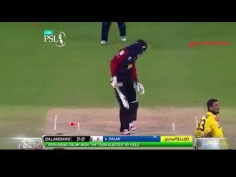 Gayle Bowled by Junaid Khan on 1st Ball