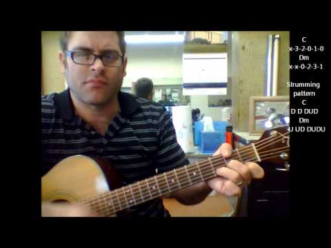 "How to play ""Just my imagination"" by The Temptations on acoustic guitar (Beginner Song)"