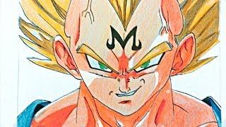 Dibujando a Vegeta Maligno Babydi Ssj2 - How to draw  Vegeta
