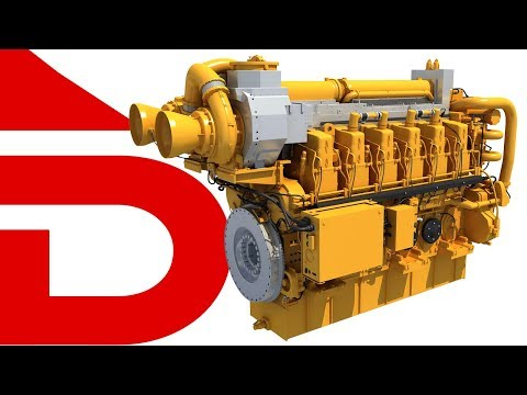 Marine Power Engine | 3D Models