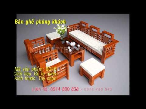 Ban ghe phong khach | Bàn ghế phòng khách gỗ tự nhiên.