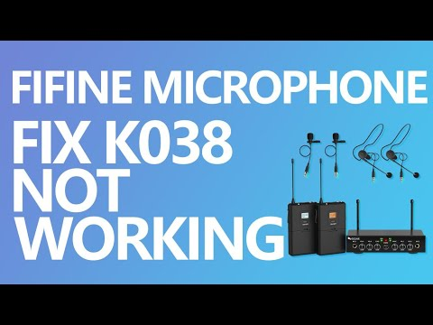 Repeat FIFINE Gaming USB Microphone K669B Noise Fixing by
