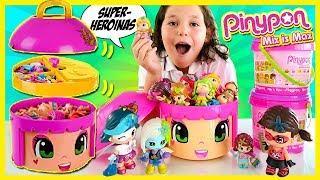¡¡Nueva PINYPON gigante!! 😄  SUPER HEROINAS Pinypon Edición Limitada de NAVIDAD * CABEZÓN Sorpresa