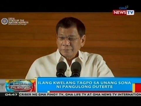 BP: Ilang kwelang tagpo sa unang SONA ni Pangulong Duterte