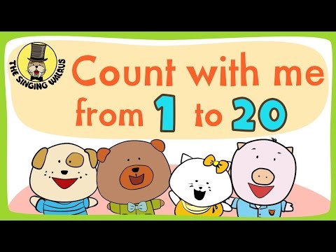 Number song 1-20 for children | Counting numbers | The Singing Walrus