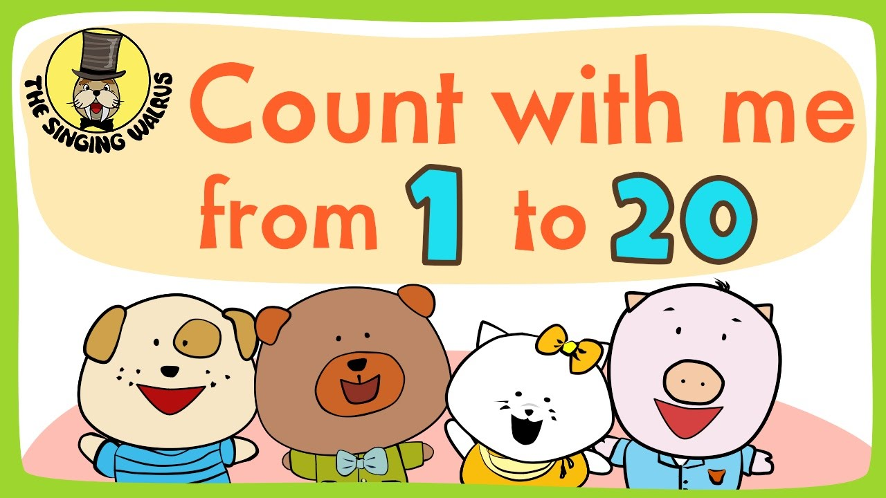 Number Song 1 20 For Children Counting Numbers The