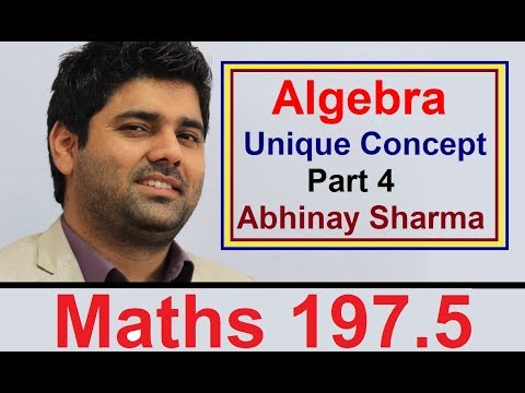 Algebra Unique Concept Part 4 😲 By Abhinay Sharma (Abhinay Maths)