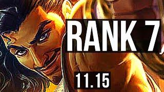 AKSHAN vs GRAVES (MID) | Rank 7, 6 solo kills, Legendary | JP Challenger | v11.15
