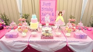 How To Create My Dessert Table & Candy / Lolly Buffet Treats - Mackayla & Kaitlyn's Birthday 2012