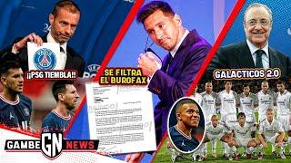 ¡PSG tiembla!   ¡FILTRAN burofax de Messi!   Real Madrid va por GALÁCTICOS