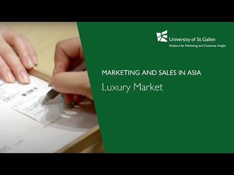 Marketing and Sales in Asia -  Luxury Market