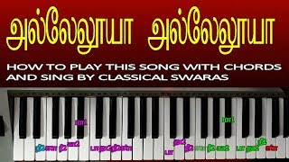 TAMIL CHRISTIAN SONGS KEYBOARD NOTES/HOW TO PLAY KEYBOARD IN TAMIL / MUSIC CLASS IN TAMIL