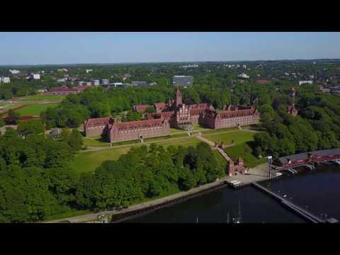 Flensburg von oben - Mai 2017 [4K]