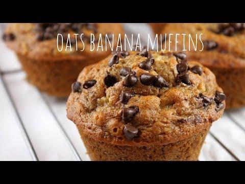 Oats Banana Muffins, Snack Recipe, Tiffin Box Recipe