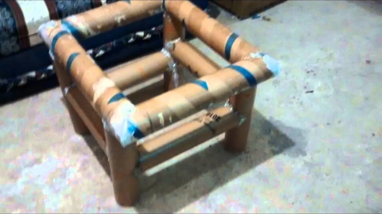 Mesa de centro con tubos de carton youtube - Mesas de carton ...