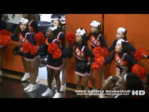 * 4 (IHSA Playoffs) Brooks Eagles@Whitney Young Dolphins Varsity Basketball Q4a (Chicago)