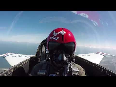 NASCAR Drivers Fly with USAF Thunderbirds NV, USA