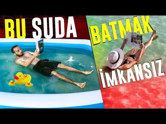 Havuza 400 KG Tuz Attım   Lut Gölü Efsanesini Test Ettim