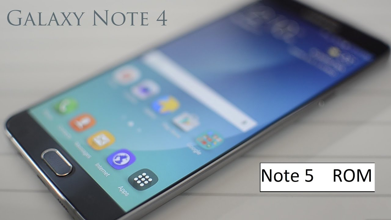 Note 5 rom for Note 4 (N910F) Install Guide