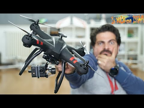Questo DRONE INCREDIBILE da 170€ con GPS fa anche i VIDEO stabilizzati da GIMBAL! ma....