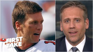 Max Kellerman calls Tom Brady 'overrated' in his 1st win with the Bucs | First Take