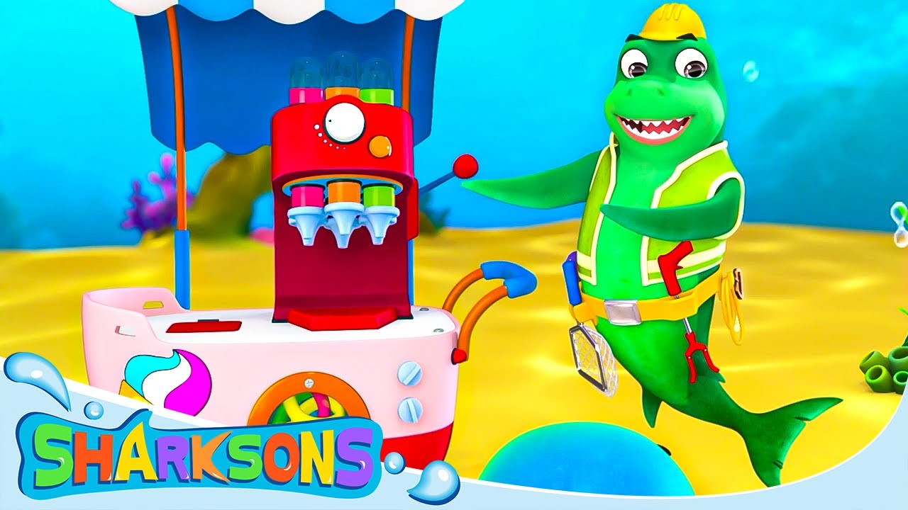 Colorful Ice Cream Song | The Sharksons - Songs for Kids | Nursery Rhymes & Kids Songs