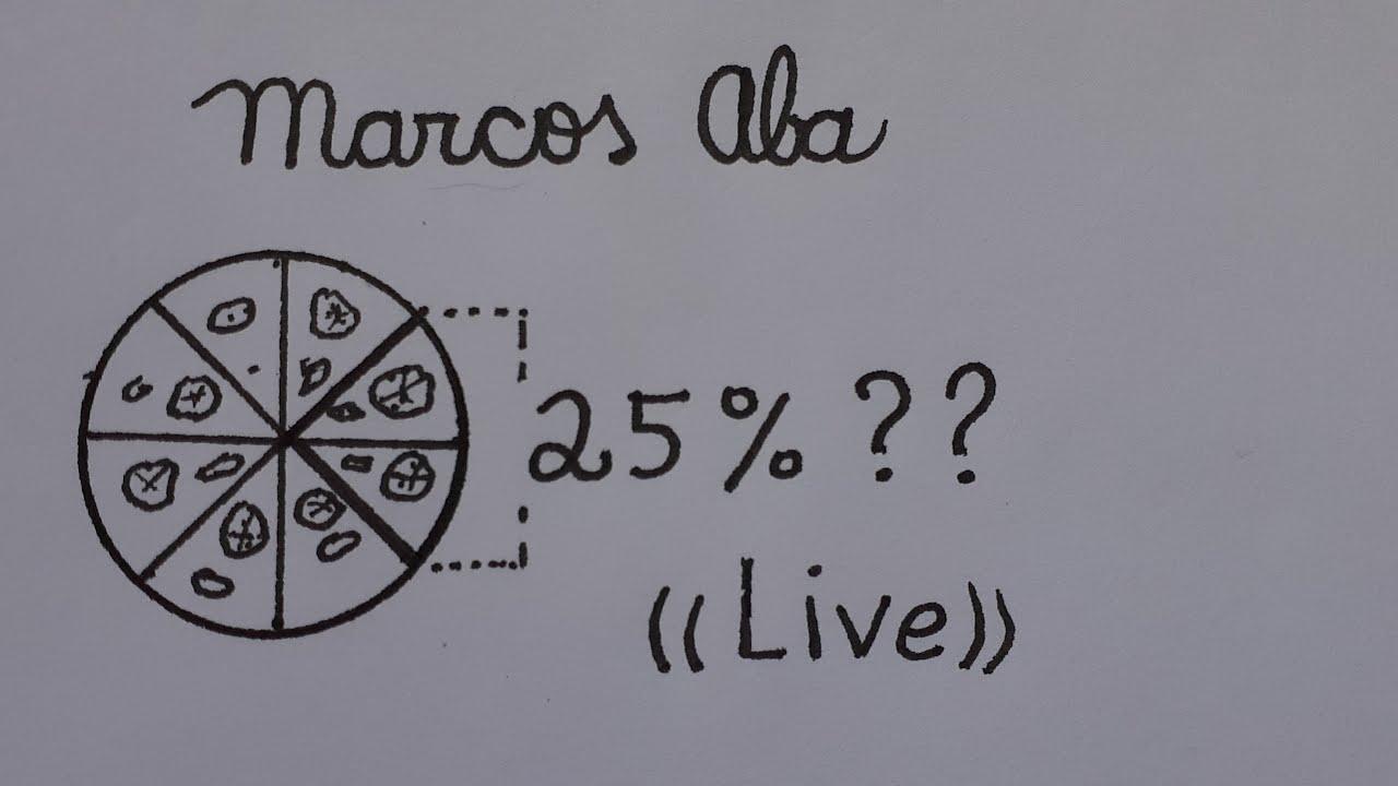(( Live )) - Fração para Porcentagem  - Marcos Aba Matemática