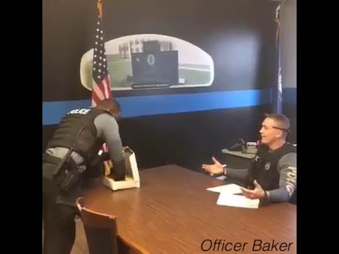 Cop gets mad smashes donuts-Officer Baker
