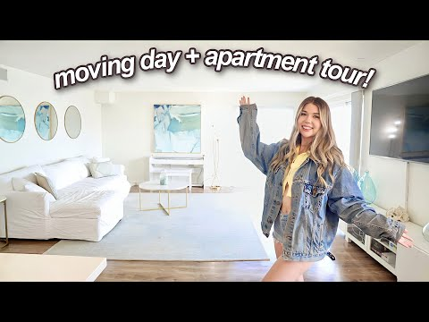 Tour of my LA Apartment on the Beach! moving vlog #2