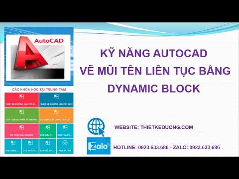 Vẽ mũi tên liên tục bằng Dynamic Block Thietkeduong.com Nâng cao CAD3