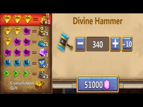 ThunderGods Gift 50000 GEMS Better Or Worse ODDS Castle Clash