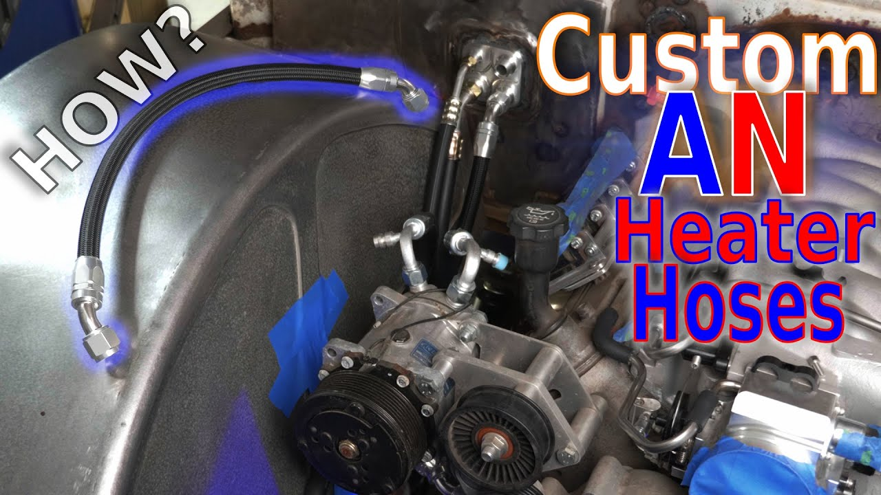 Custom AN Heater Hoses using AeroFlow A/C to AN Adapters!