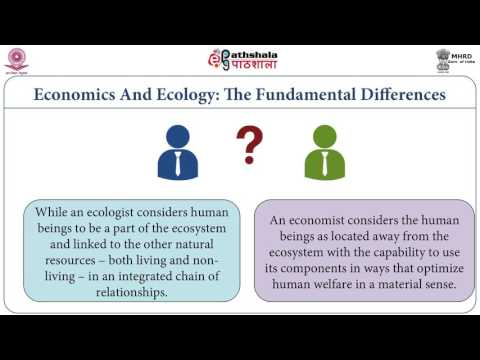 Relationship between economics and ecology (SOC)