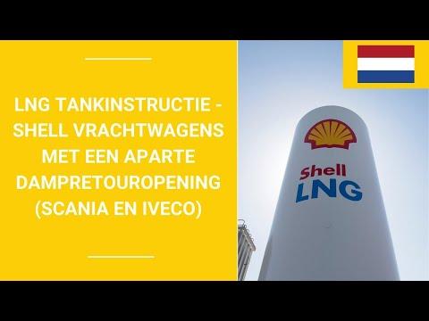 LNG tankinstructie -Shell Vrachtwagens met een aparte dampretouropening (Scania en Iveco)