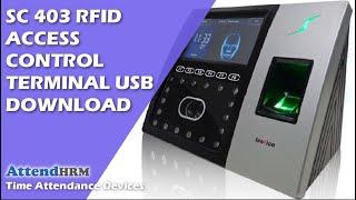 SC 403 RFID Access Control Terminal USB Download