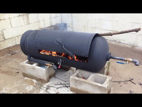 DIY vertical pellet smoker